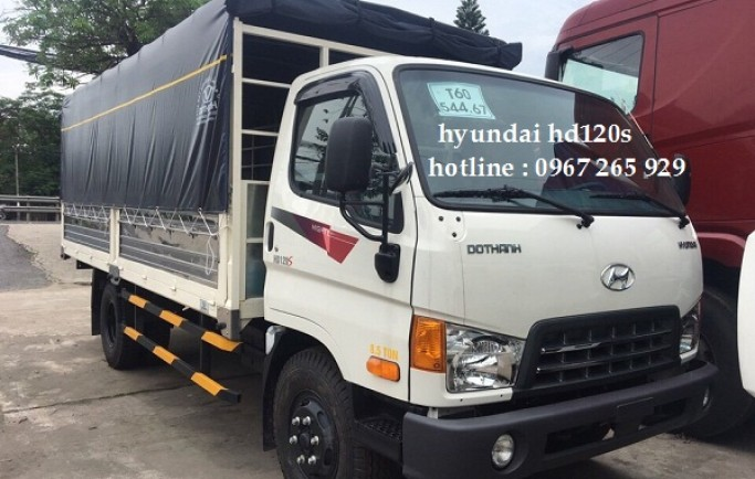 Gía Xe Tải Hyundai HD120S Thùng Bạt | Mua Xe Tải Hyundai HD120S Trả Góp