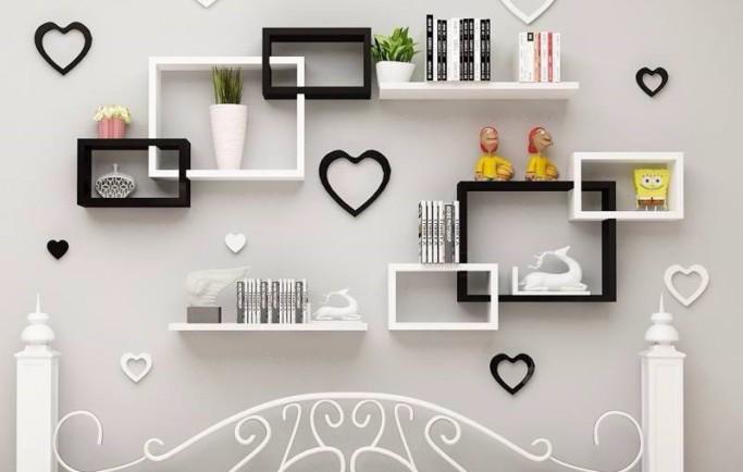 Kệ treo tường trang trí phòng ngủ