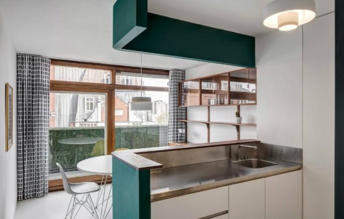 Không gian căn hộ tại London được biến đổi thành một bất động sản Barbican hùng vĩ