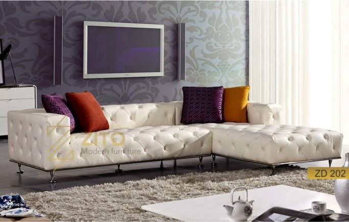 Kích thước sofa da góc chữ L nổi bật