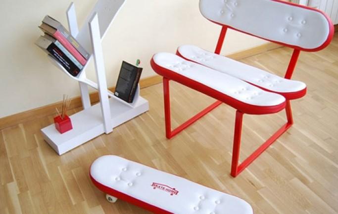 Phụ kiện dành cho trang trí nhà được tái chế từ chiếc ván trượt vô cùng đặc biệt (P2)