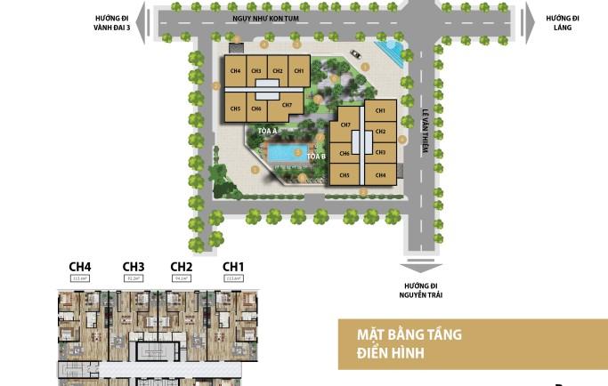 Quy mô dự án Stelar Garden - 35 Lê Văn Thiêm