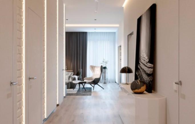 Tham khảo về căn phòng khách mở hiện đại tuyệt đẹp ở Minsk