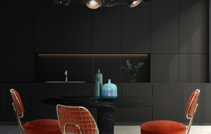 Thật đơn giản để nâng cao trang trí phòng ăn với ánh sáng đương đại tuyệt đẹp
