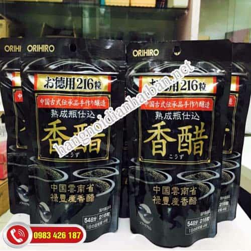 Sản phẩm  dấm đen giảm cân Orihiro Nhật Bản chính hãng