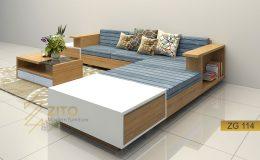 Sofa gỗ đẹp cho phòng khách hiện đại