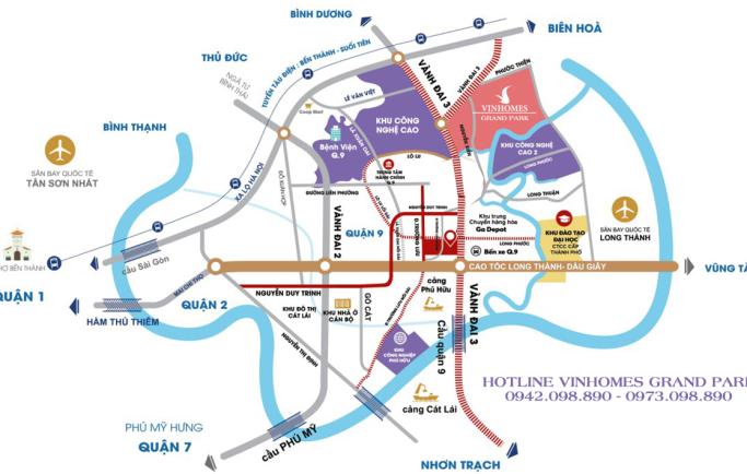 Vị trí dự án Vinhomes Grand Park Quận 9 có gì đặc biệt?